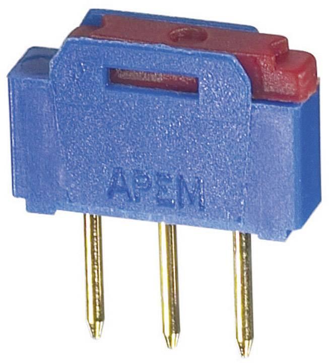 Posuvný přepínač APEM NK236, 12 V/AC, 0.5 A, 1x zap/zap, 1 ks