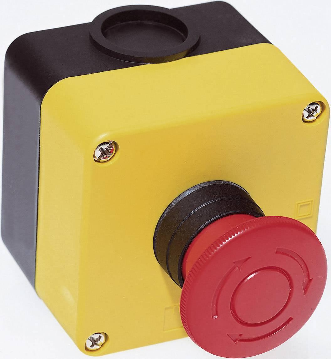 Núdzový vypínač Idec HW1X-BV401-R, 250 V/AC, 3 A