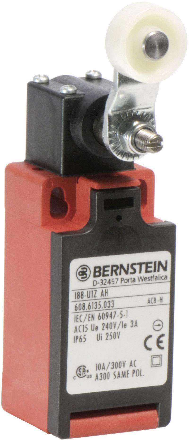 Koncový spínač Bernstein AG I88-U1Z AH, 240 V/AC, 10 A, hydraulické zdvíhadlo , bez aretácie, IP65, 1 ks
