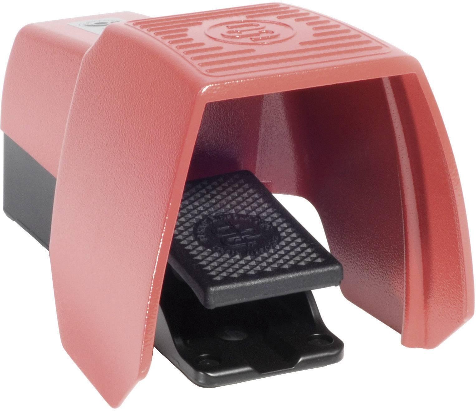 Nožné / ručné tlačidlo s ochranným krytom Bernstein AG F1-SU1Z UN, 240 V/AC, 10 A, 1 spínací, 1 rozpínací, 1 pedál , IP65, 1 ks