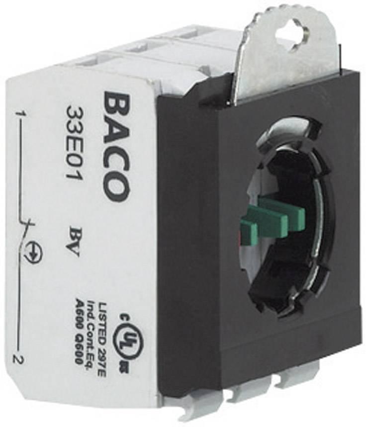 Spínacie kontaktné teleso s upevňovacím adaptérom BACO 333ER02, 2 rozpínacie, bez aretácie, 600 V, 1 ks