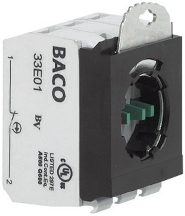 Spínacie kontaktné teleso s upevňovacím adaptérom BACO 334E22, 2 rozpínacie, 2 spínacie, bez aretácie, 600 V, 1 ks