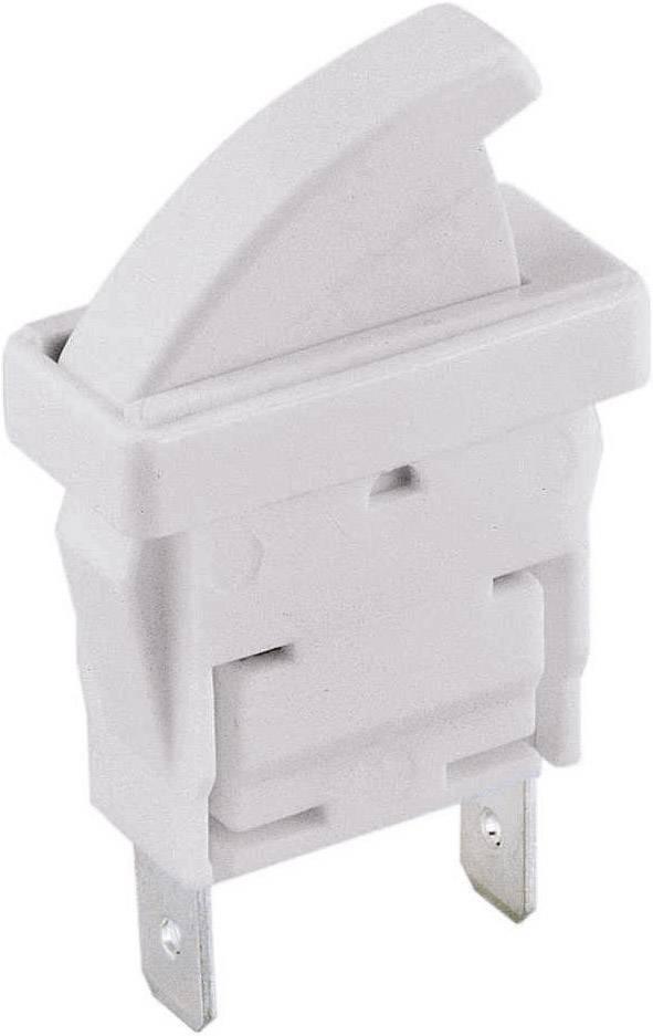 Tlačidlo, dverné spínače Arcolectric C 3005 CB AAA, 250 V/AC, 0.1 A, biela, 1 ks