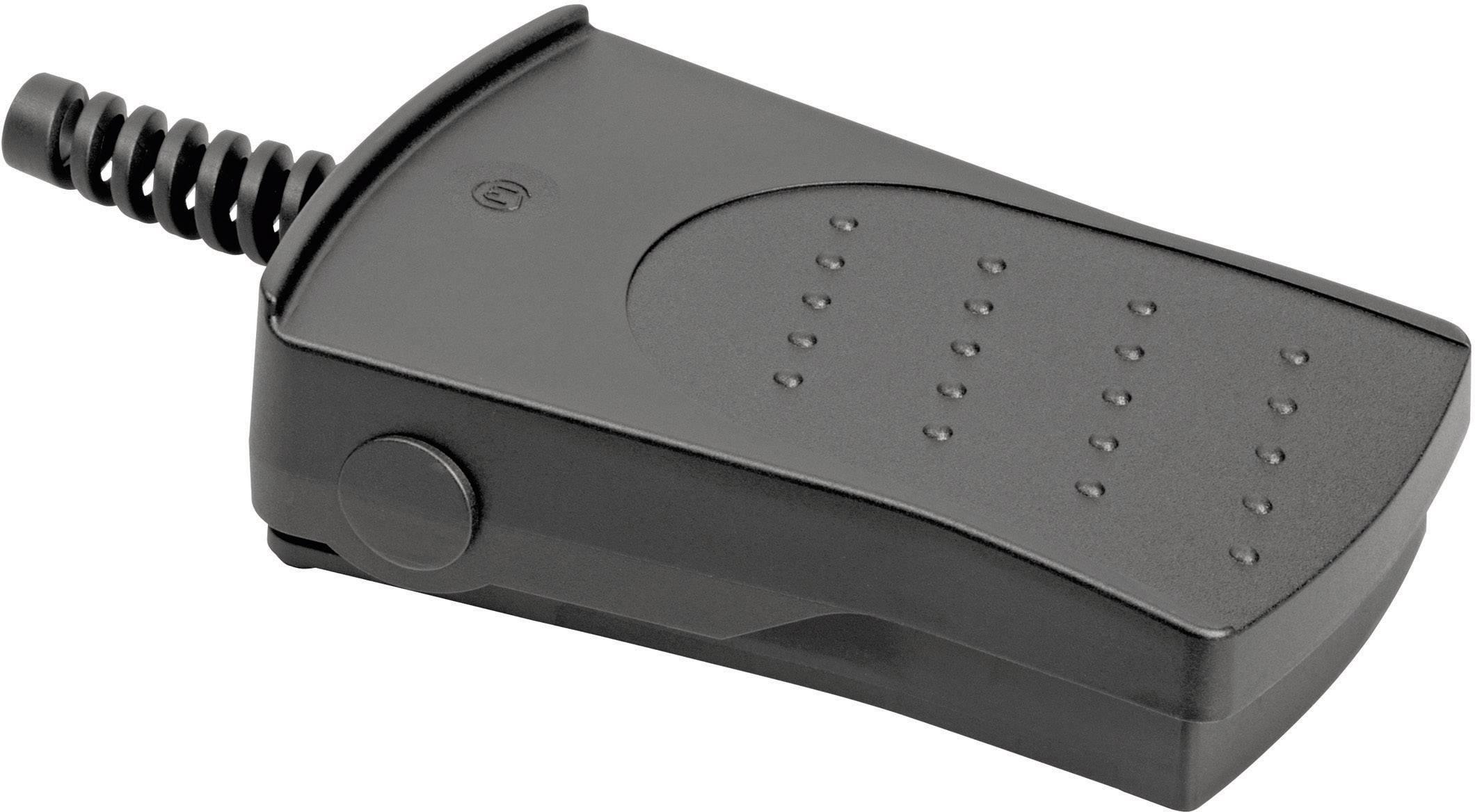 Nožné / ručné tlačidlo Marquardt 2420.0501, 250 V/AC, 14 A, 2 spínacie, 1 pedál , IP65, 1 ks