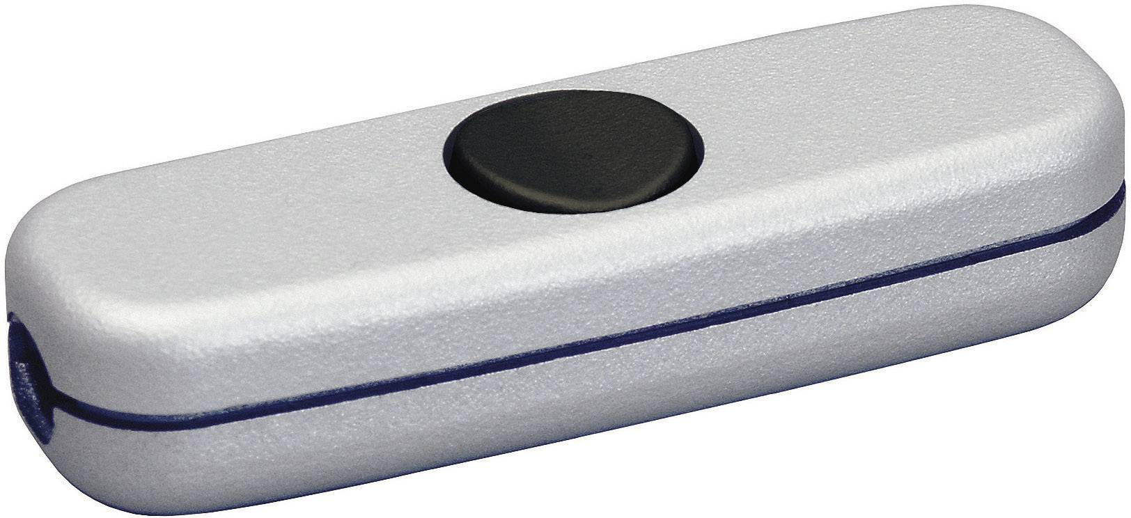 Šnúrový spínač interBär 5055-020.01, 3 A, titan, čierna, 1 ks