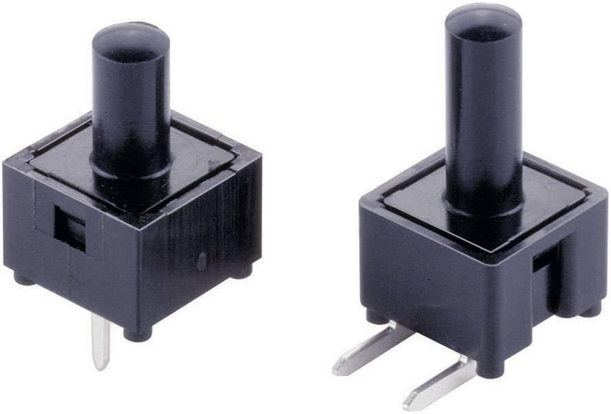 Tlačidlo Bourns 1543-650-200, 24 V, 0.01 A, čierna, 1 ks