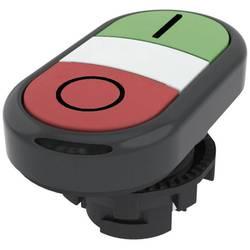 Tlačítkový spínač Pizzato Elettrica E21PDRL1AAAD, zelená/červená