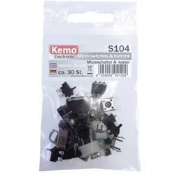 Sada mikrospínačů Kemo S104, šroubovací, 30 dílků
