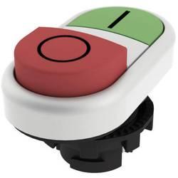 Tlačítkový spínač Pizzato Elettrica E21PDSL9AAAD, zelená/červená
