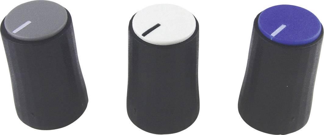 Otočný knoflík Cliff CL178812, pro sérii K88, 6 mm, s drážkováním, černá