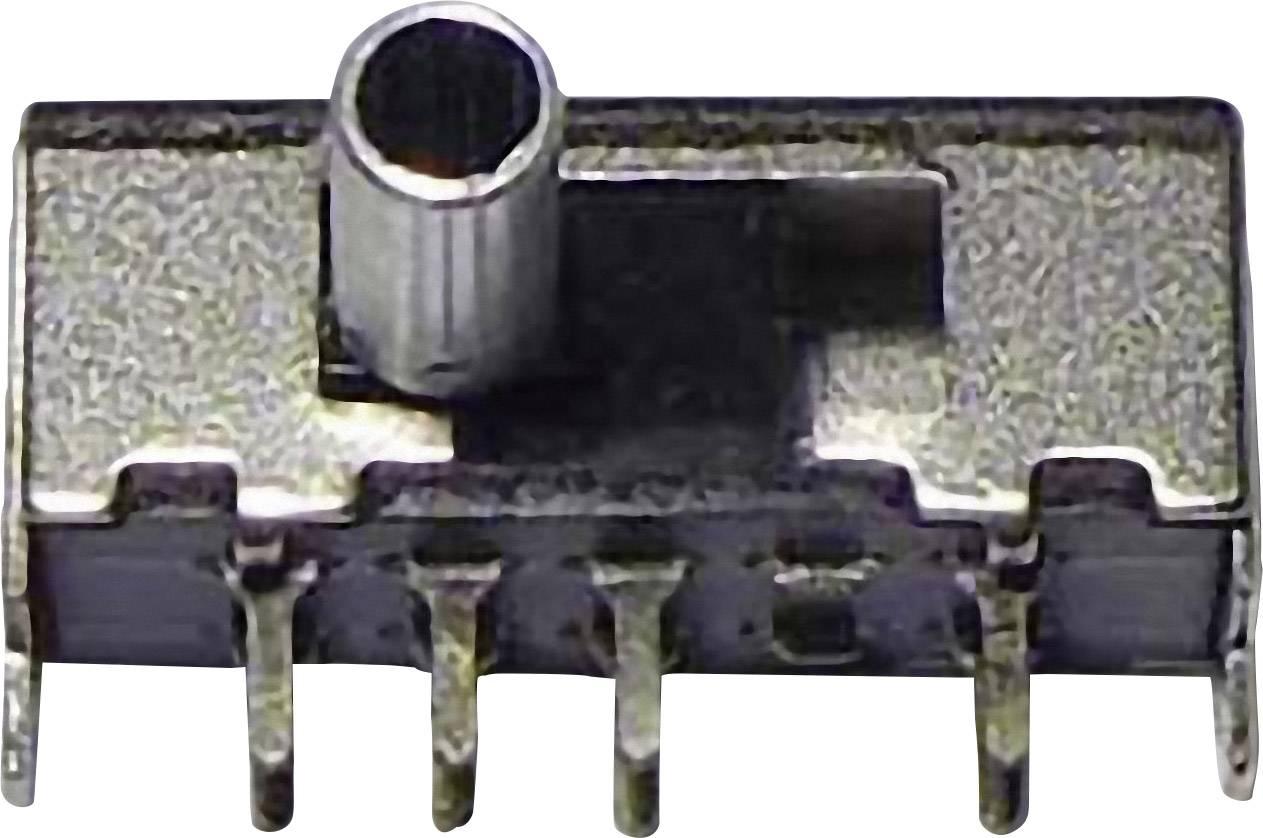 Posuvný prepínač 50 V/DC, 0.3 A, 2x zap/zap/zap, 1 ks