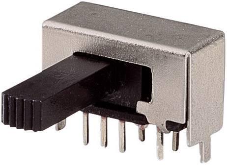 Posuvný přepínač 50 V/DC 3 A 2x zap/zap/zap 1 ks