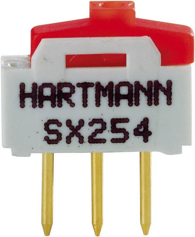 Posuvný přepínač Hartmann 12 V/DC 0.5 A 1x zap/zap SX254 1 ks