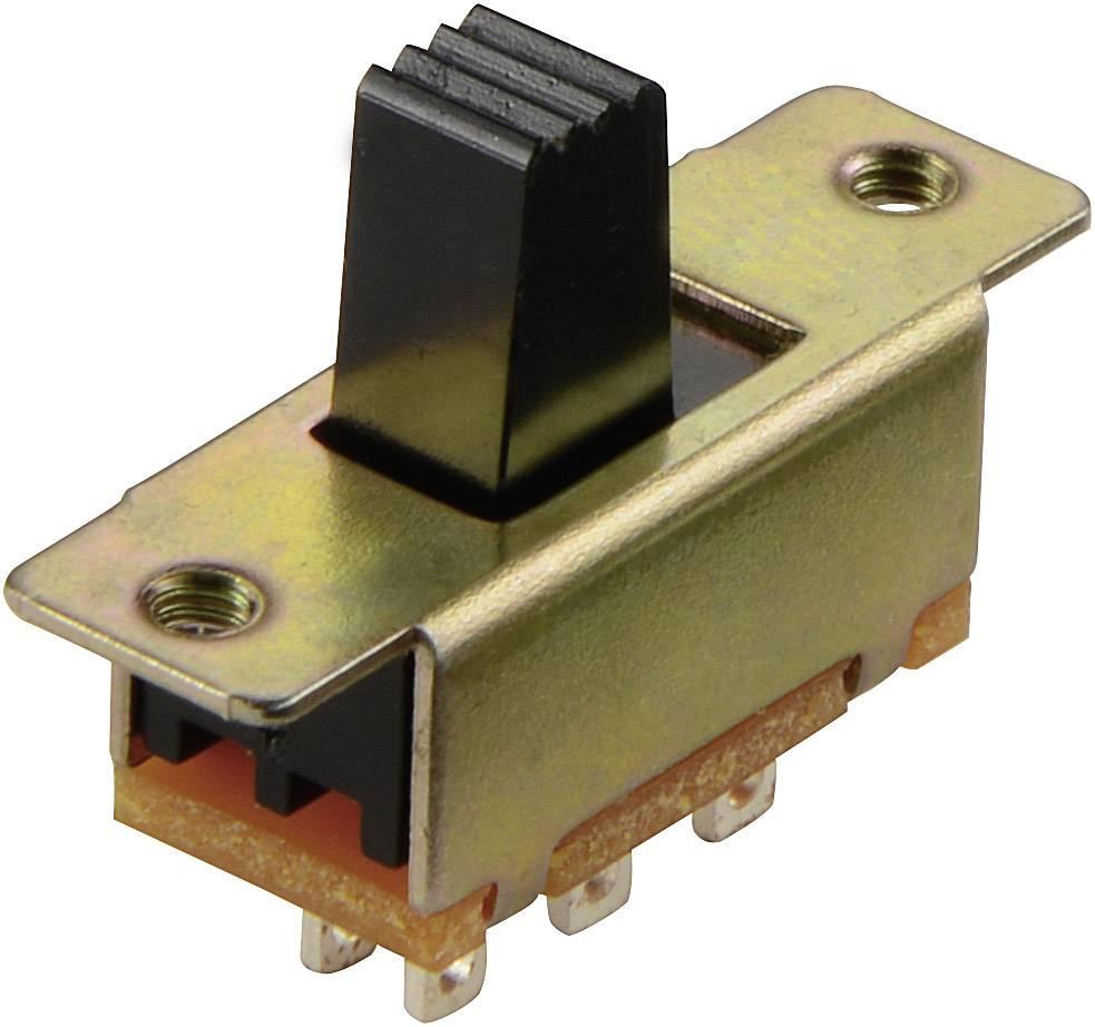 Posuvný prepínač 50 V/DC, 0.5 A, 2x zap/zap, 1 ks