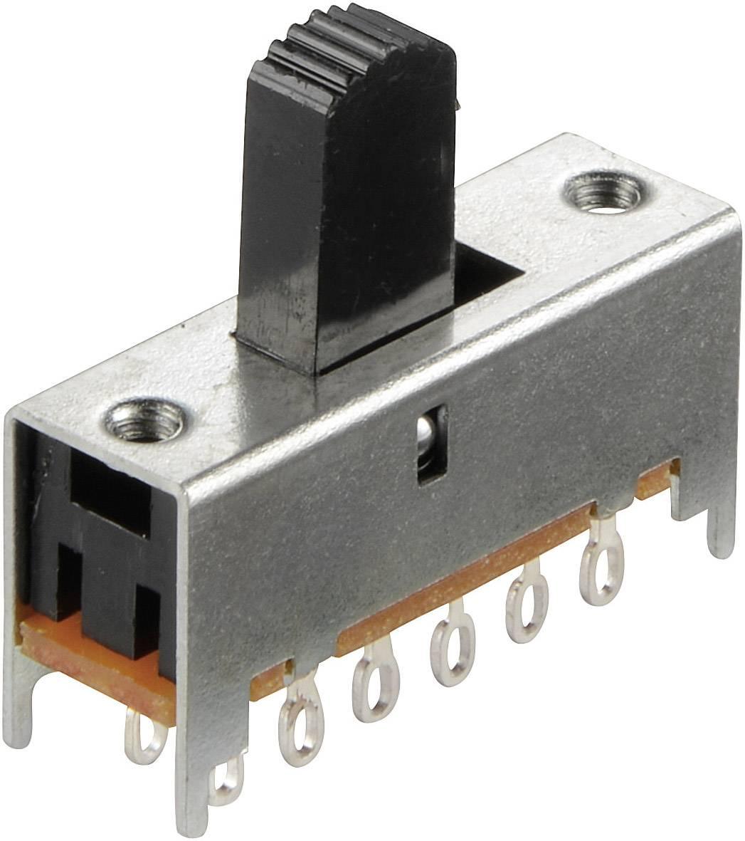 Posuvný prepínač 30 V/DC, 0.1 A, 4x zap/zap, 1 ks