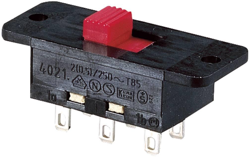 Posuvný prepínač Marquardt 4021.0801, 250 V/AC, 5 A, IP40, 2x zap/zap, 1 ks