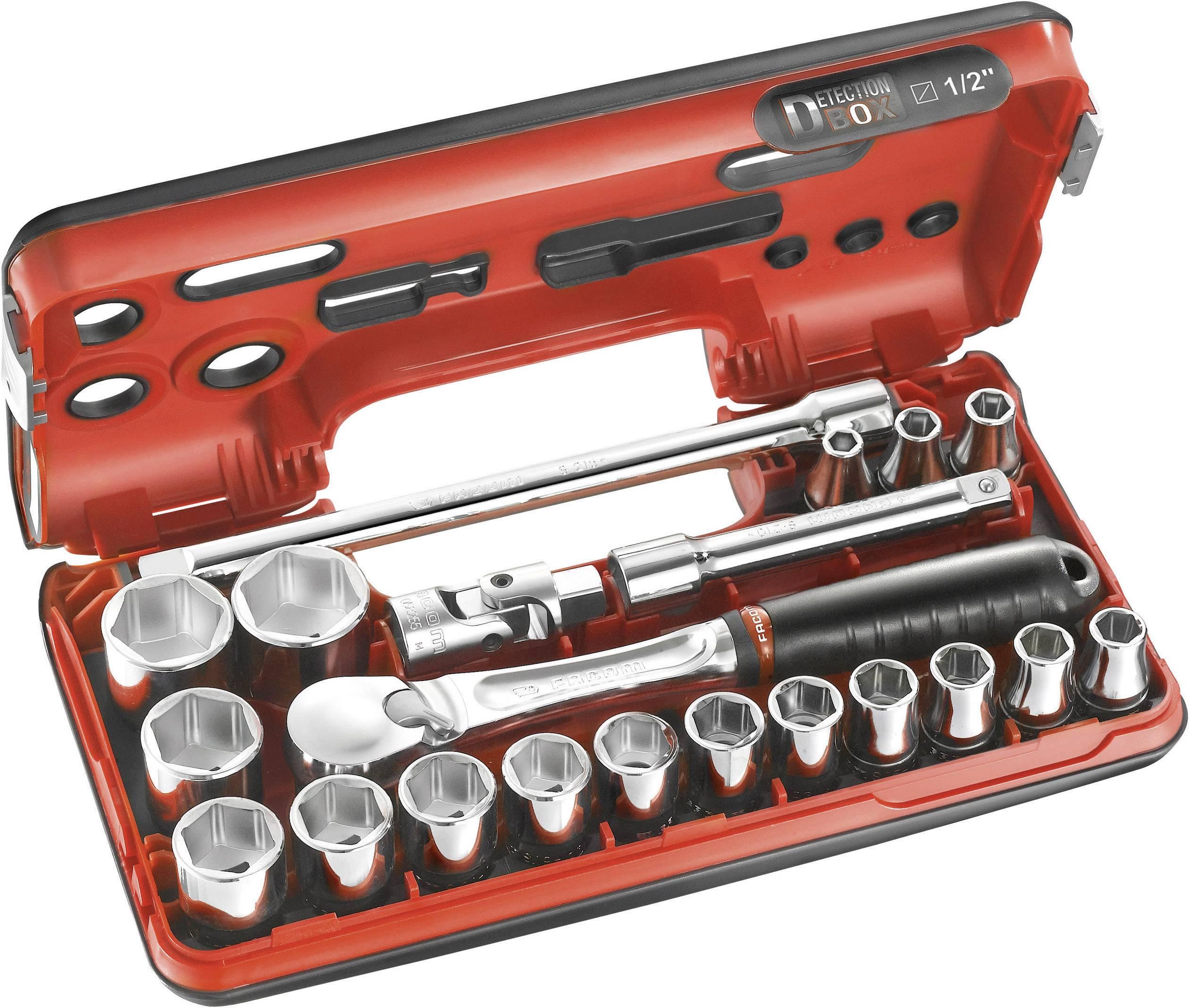 """Sada nástrčných klíčů Facom SL.DBOX112, 1/2"""", 21dílná"""