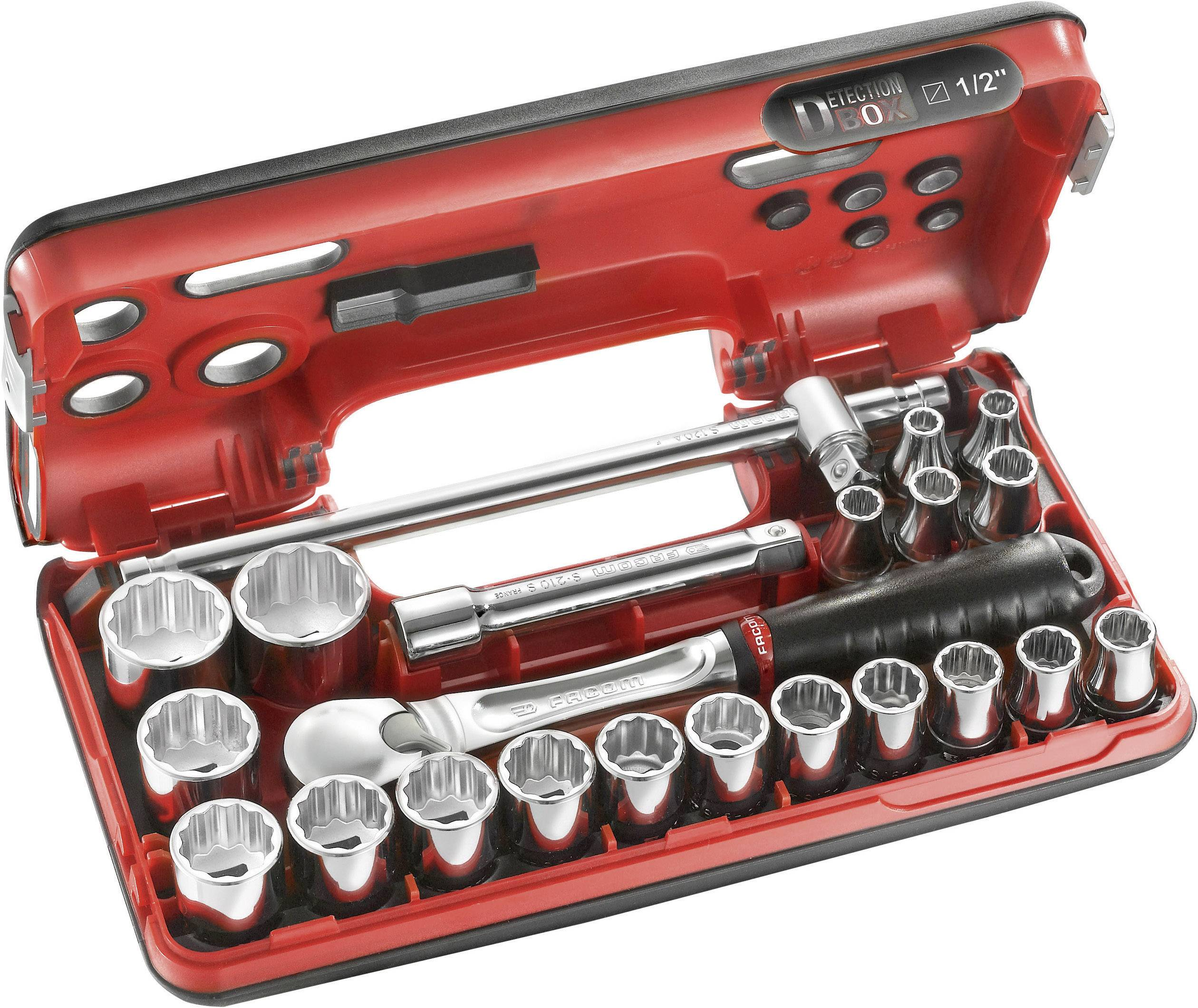 """Sada nástrčných klíčů Facom SL.DBOX412, 1/2"""", 22dílná"""