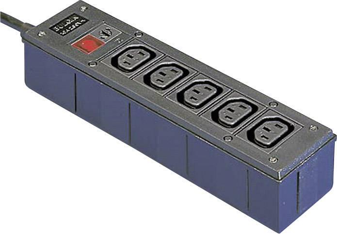 IEC adaptér C13/C14 DE schuko zástrčka - IEC C13 zásuvka 10 A, IEC C13 zásuvka 10 A, IEC C13 zásuvka 10 A, IEC C13 zásuvka 10 A, IEC C13 zásuvka 10 A čierna, 1 ks