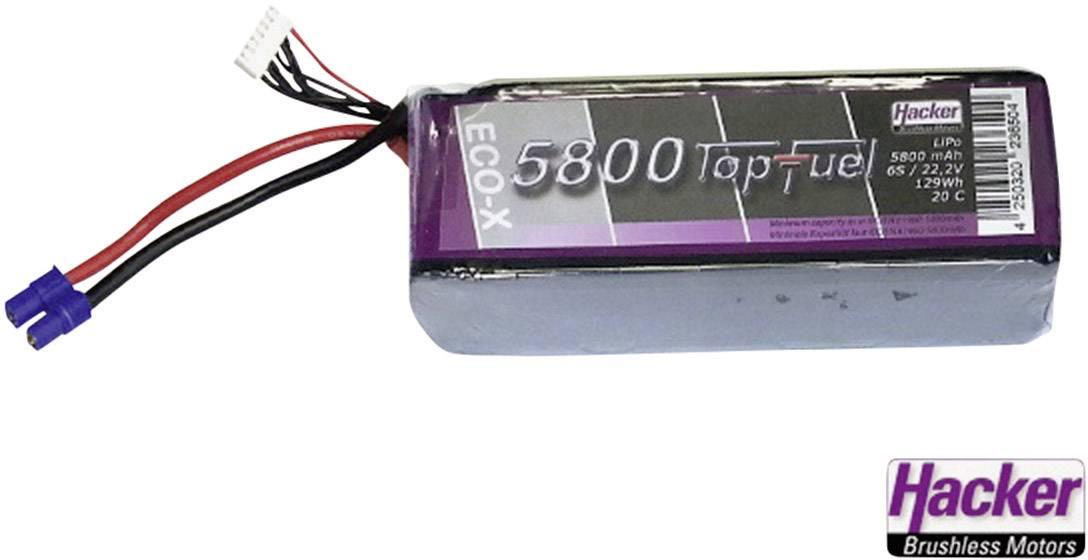 Akupack LiPol Hacker EC5, 25800231, 7.4 V, 5800 mAh, 20 C