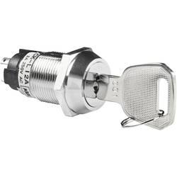 Spínač s klíčem NKK Switches CKL12BFW01, 1x 90 °, 19 mm, 250 V/AC, 3 A, 1x zap/zap