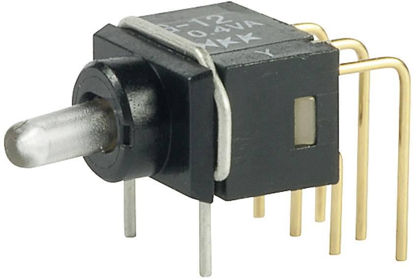 Páčkový spínač NKK Switches G12JPC, 28 V DC/AC, 0.1 A, 1x zap/zap, 1 ks