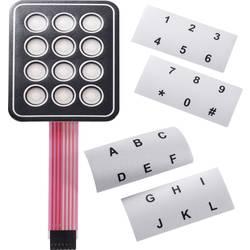 Fóliová klávesnica samolepiace, s popisnými prúžkami 3 x 4 APEM AC3534, 1 ks