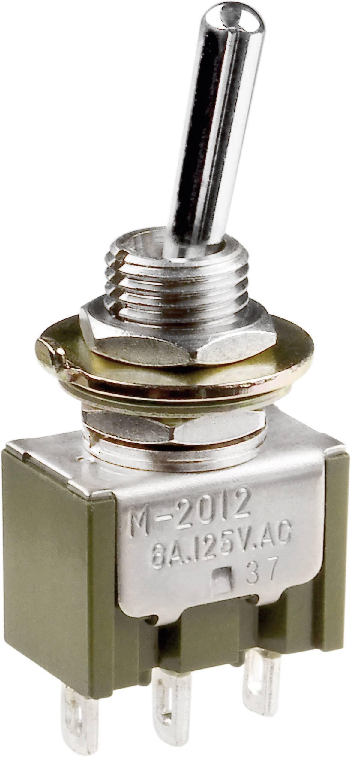 Pákový spínač NKK Switches M2022SS1W01, 250 V/AC, 3 A, 1 ks