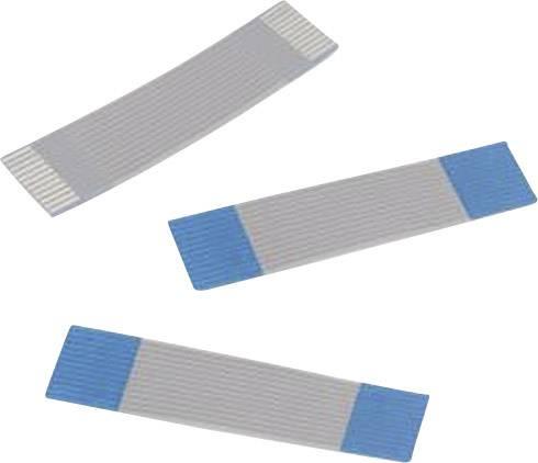 Plochý kábel Würth Elektronik 686610200001, rozteč 1 mm, 10 x 0.00099 mm², sivá, modrá, 0.2 m