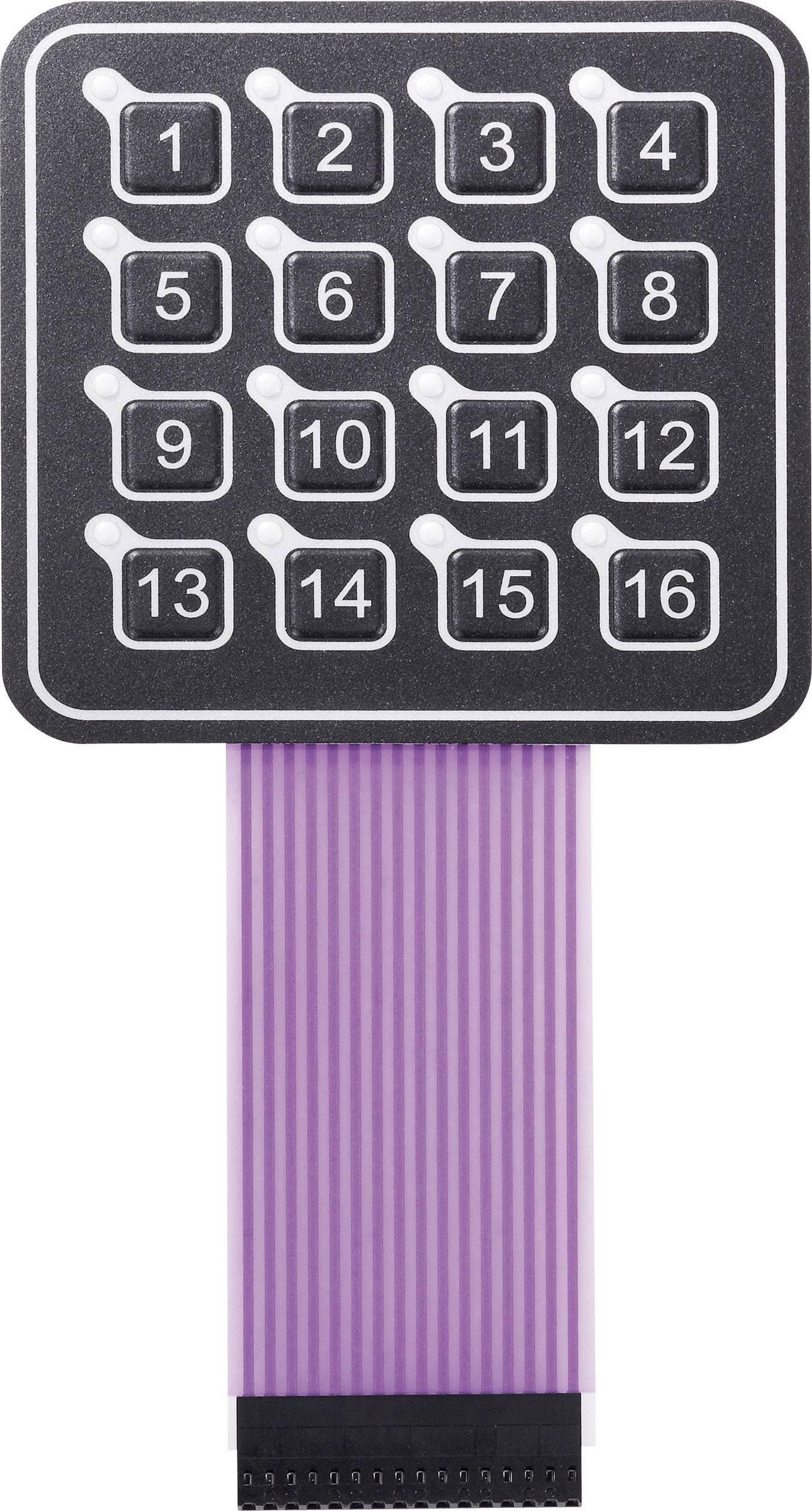 Foliová klávesnice 4 x 4 APEM AC3561ILL, 1 ks