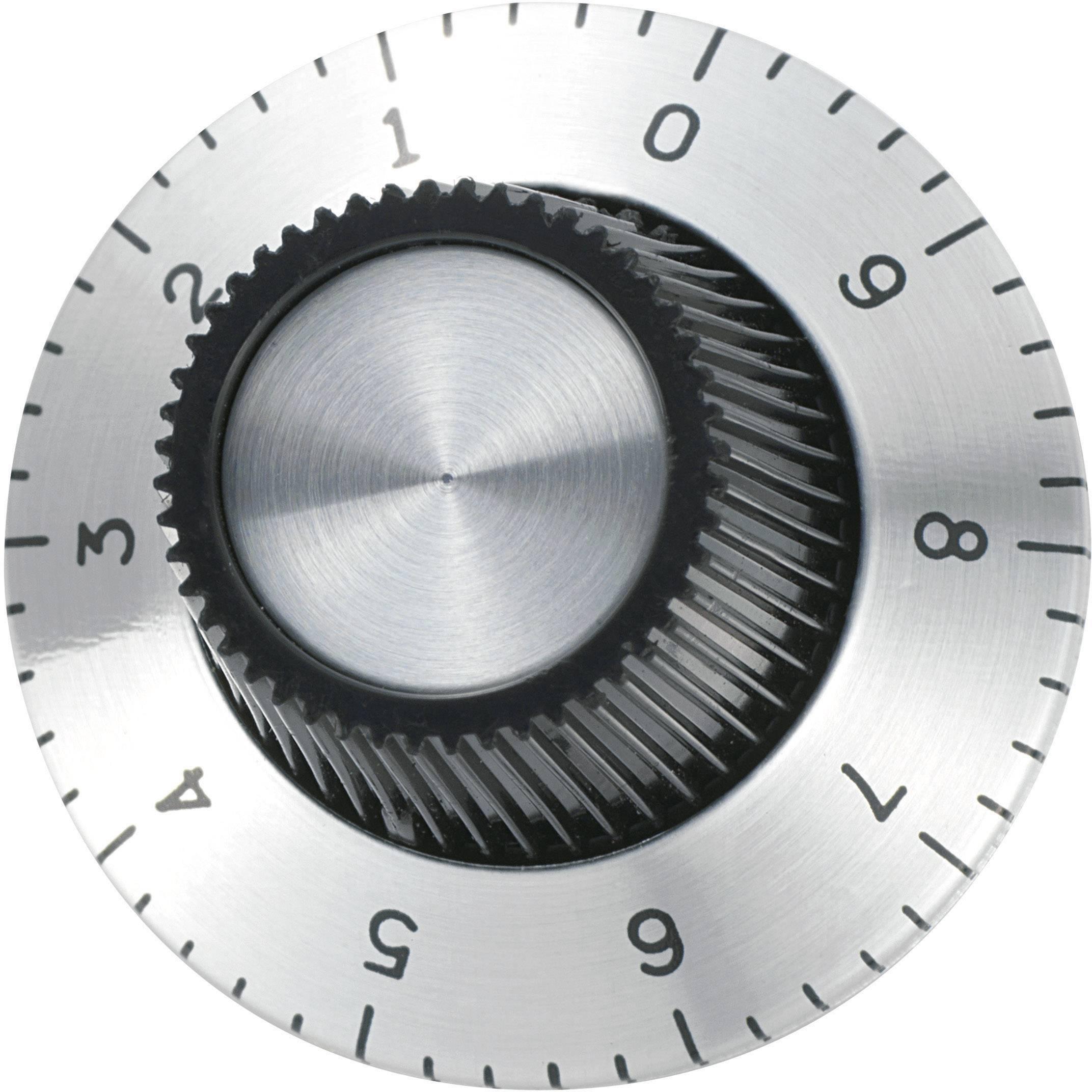 Otočný gombík 709012, (Ø x v) 29.2 mm x 18.1 mm, hliník, 1 ks