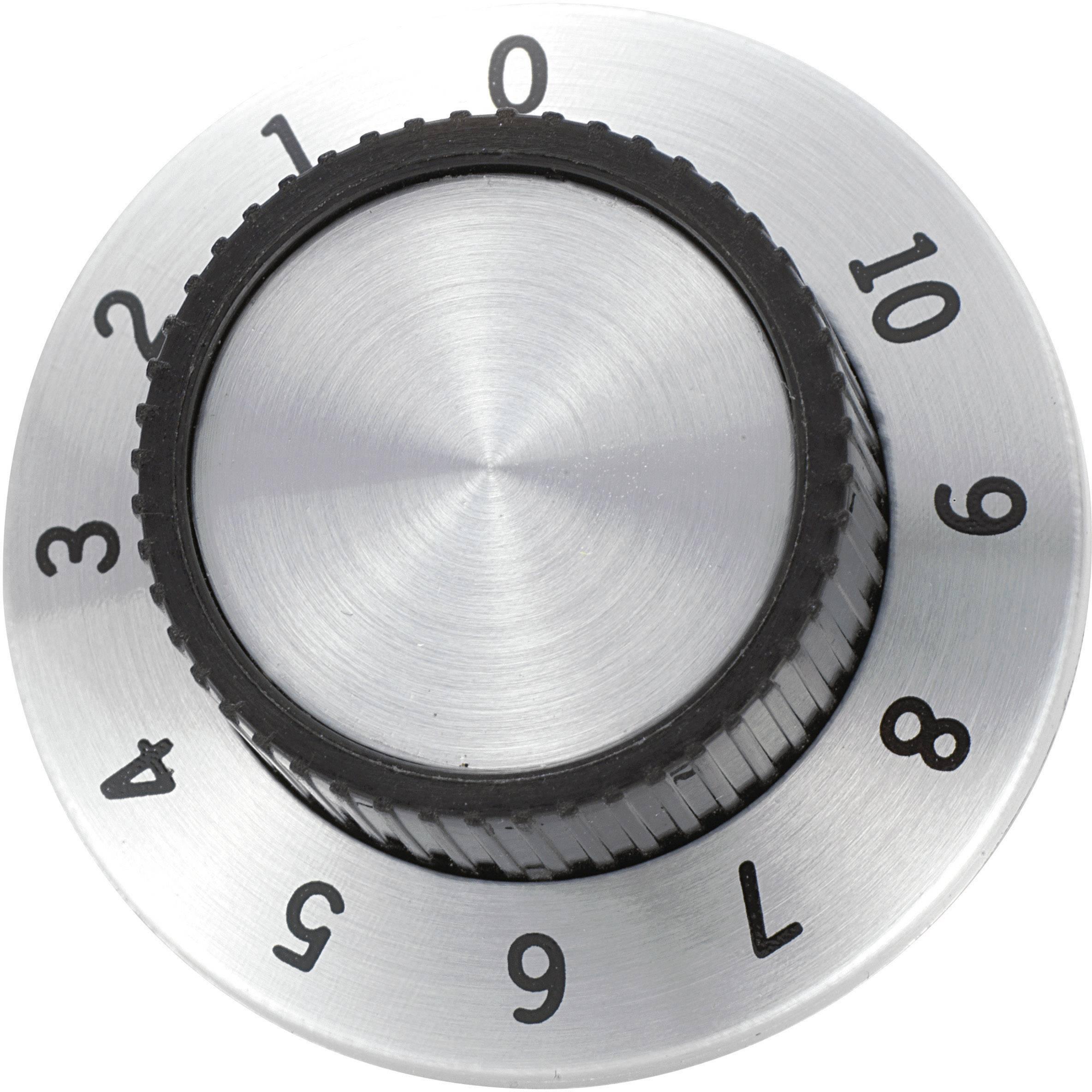 Otočný knoflík s měřítkem TRU COMPONENTS RN-114A, (Ø x v) 36.8 mm x 14.8 mm, hliník, 1 ks