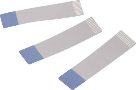 Plochý kábel Würth Elektronik 686710200001, rozteč 1 mm, 10 x 0.00099 mm², sivá, modrá, 0.2 m