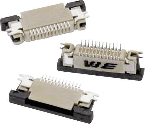 Zásuvková lišta (štandardná) Würth Elektronik 68711214522 68711214522, 12.40 mm, pólů 12, rozteč 0.50 mm, 1 ks