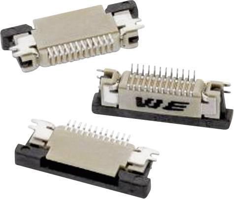 Zásuvková lišta (štandardná) Würth Elektronik 68711814522 68711814522, 15.40 mm, pólů 18, rozteč 0.50 mm, 1 ks