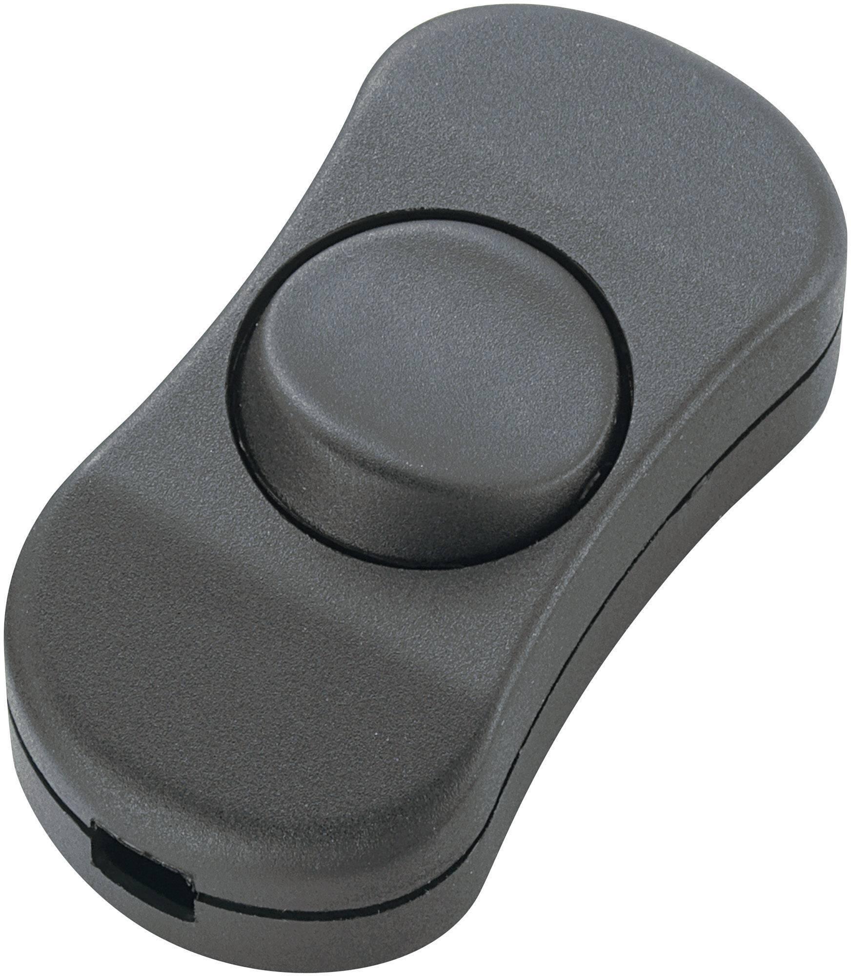 Šnúrový spínač SCI R13-901, 3 A, čierna, 1 ks