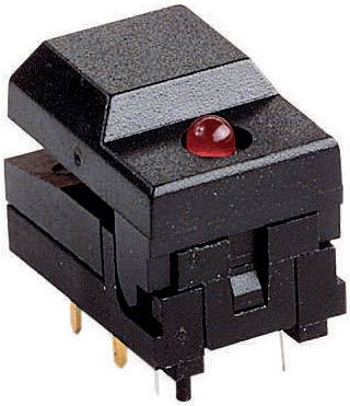 Tlačidlo 604108, 12 V, 0.03 A, čierna, 1 ks
