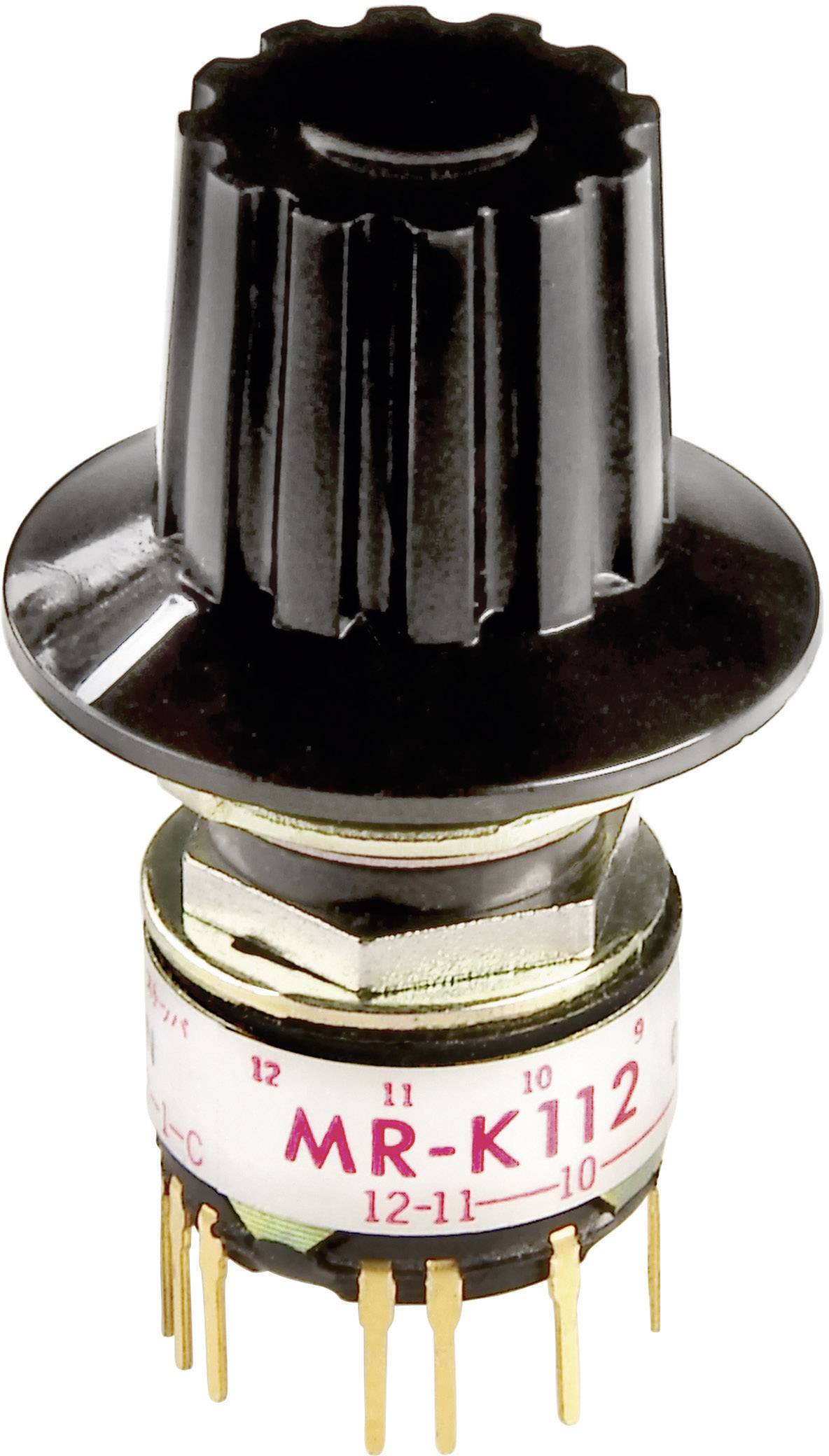 Otočný přepínač NKK Switches MRK206-A, 2x 2 - 16 poloh, 1x 30 °, 125 V/AC, 0,25 A