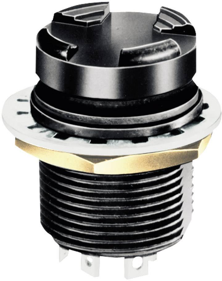 4-cestné tlačidlo tlačidlo OTTO T5-CH2222, spájkovacie očká, 28 V/DC, IP68, 1 ks