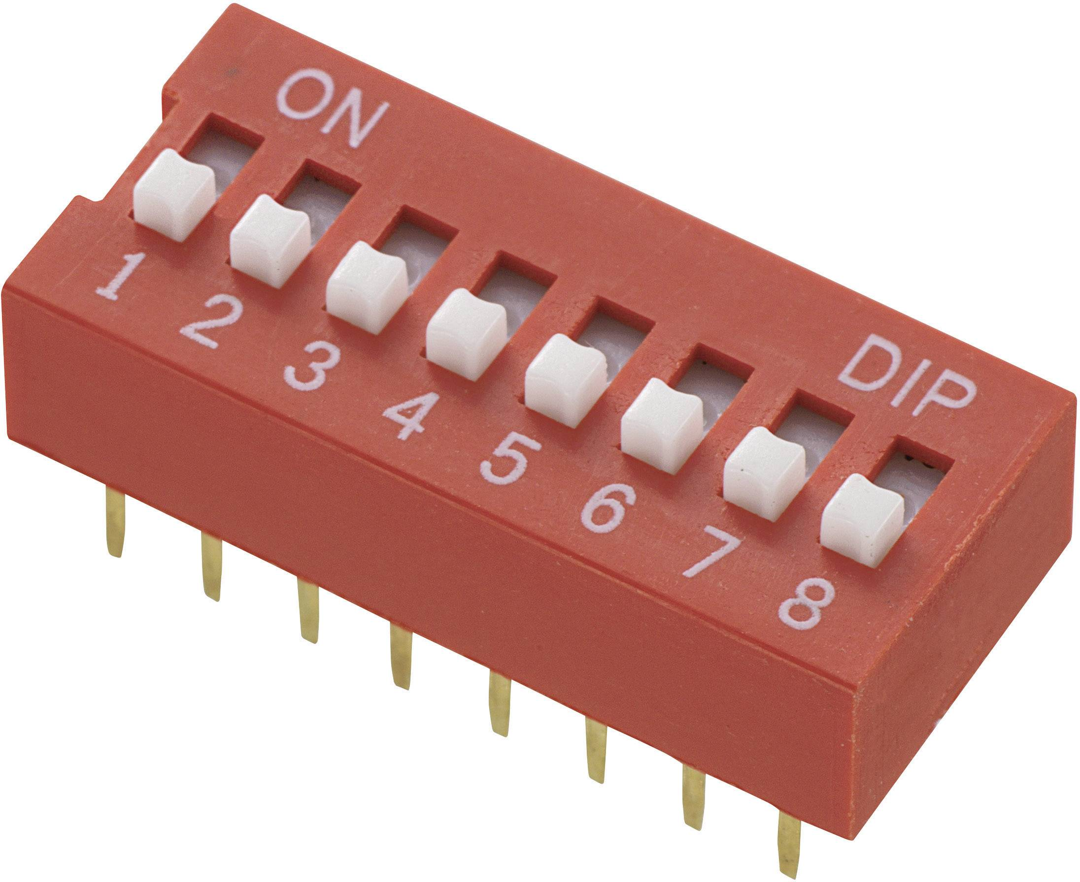 DIP spínač DS-08