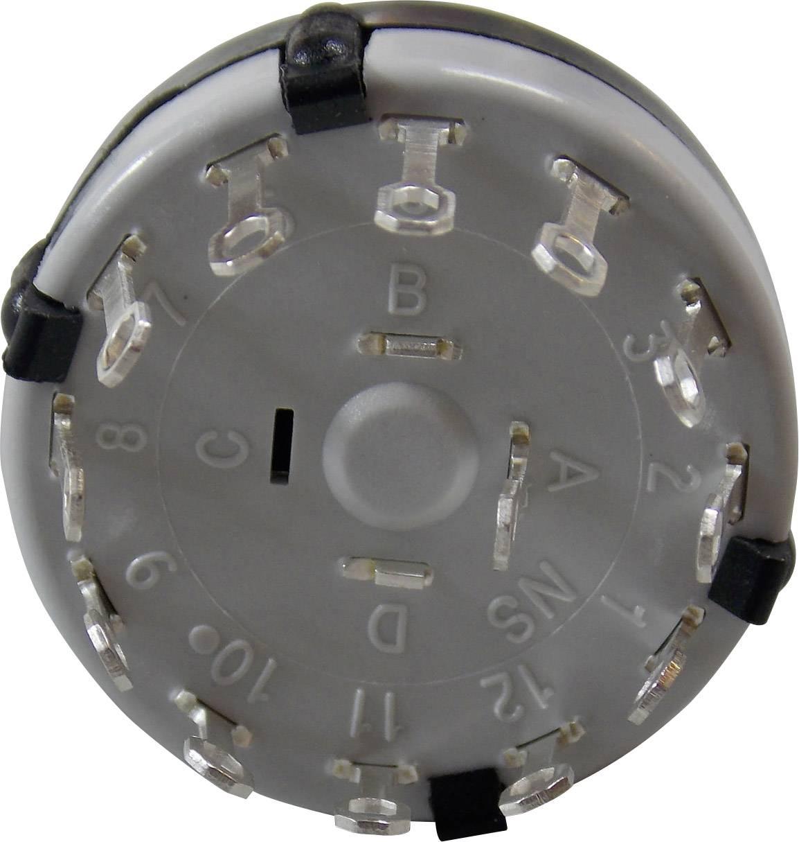 Otočný spínač Lorlin CK-1029, 12 x 30 °