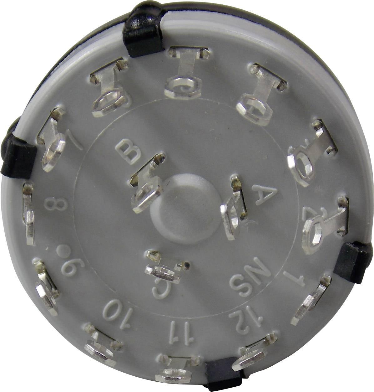 Krokový spínač Lorlin CK-1031, 4 x 30 °