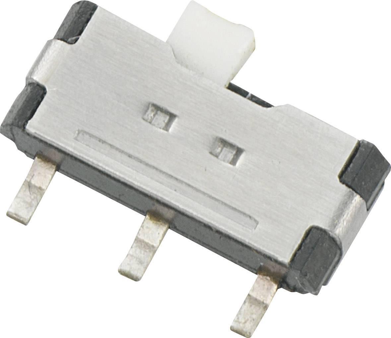 Posuvný prepínač TRU COMPONENTS SSK-1202, 12 V/DC, 0.05 A, 1 zap/zap, 1 ks