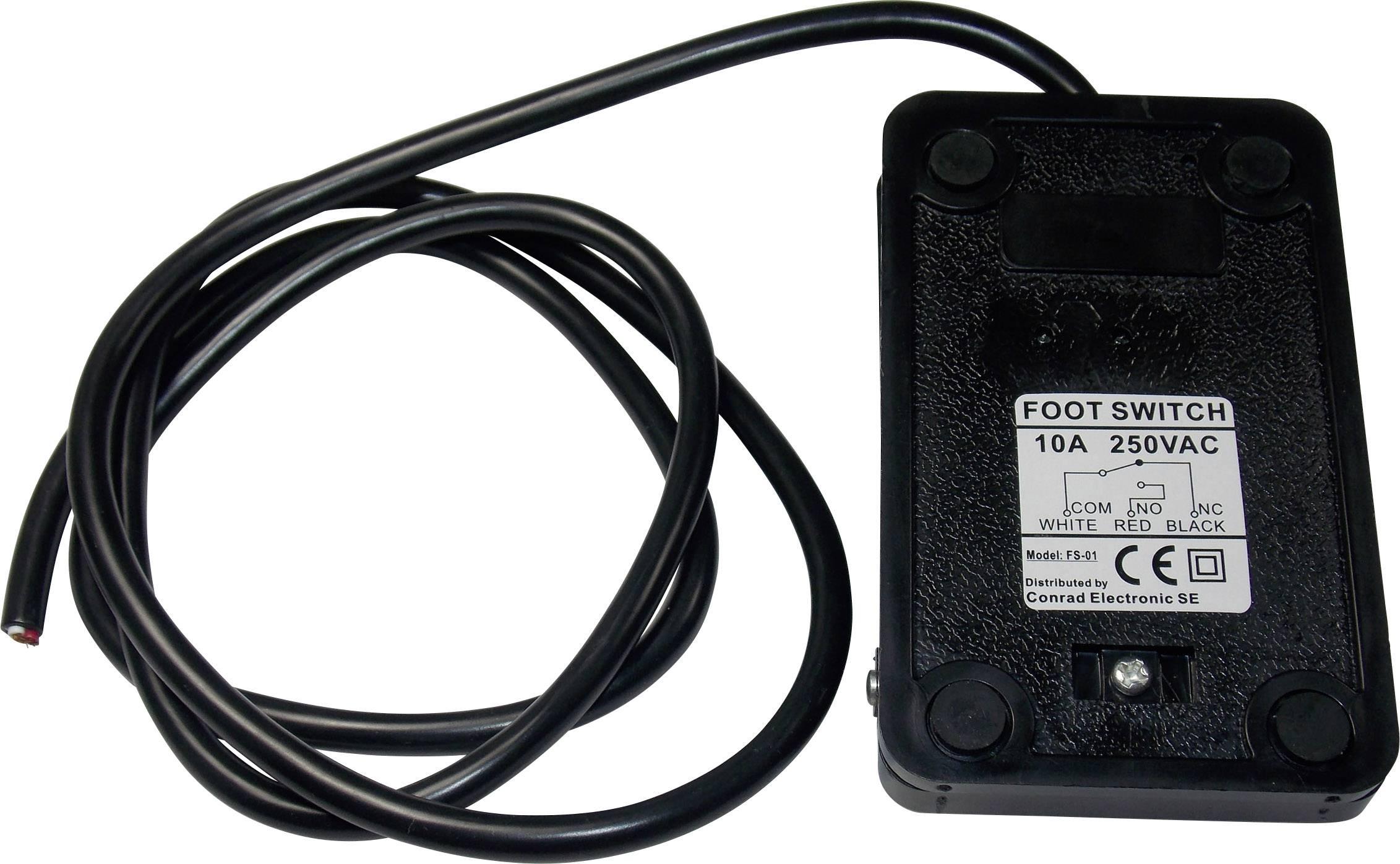 Nožné / ručné tlačidlo FS-01, 250 V/AC, 10 A, 1 prepínací, 1 pedál , 1 ks