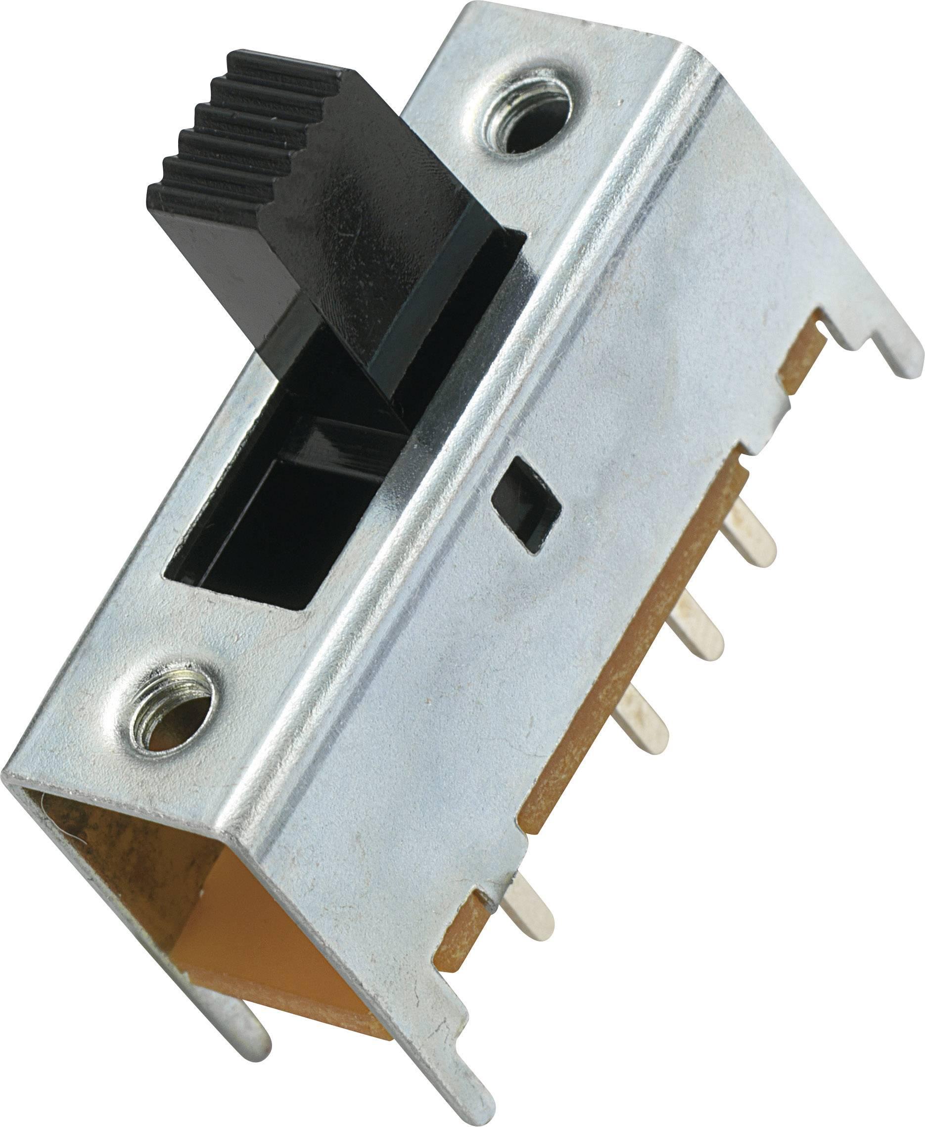 Posuvný přepínač MS-034, 2x zap/vyp/zap