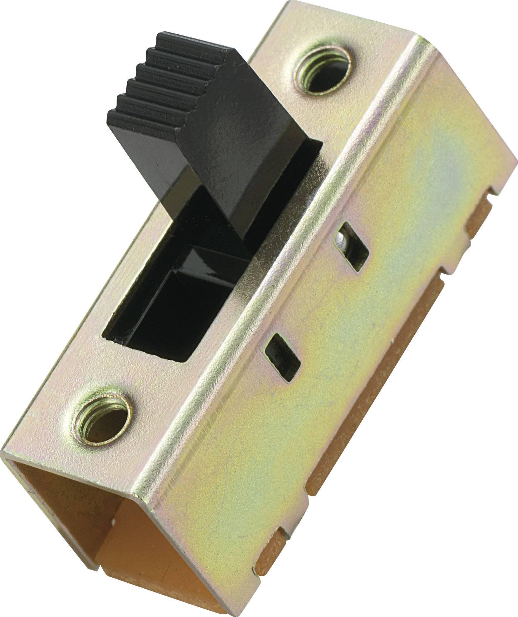 Posuvný přepínač MS-033, 2x zap/vyp/zap