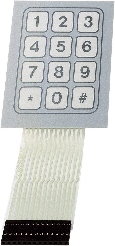 Fóliová klávesnica 3 x 4 TRU COMPONENTS SU709930, 1 ks
