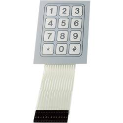 Foliová klávesnice 3 x 4 TRU COMPONENTS SU709930, 1 ks