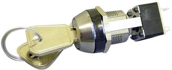 Kľúčový spínač Lorlin MIS-8659 MIS-8659, 250 V/AC, 4 A, 2x vyp/(zap), 1 x 90 °, 1 ks