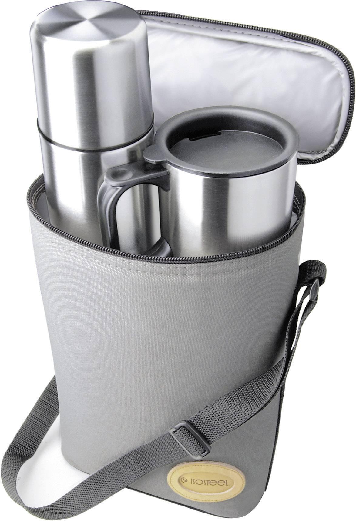 Cestovná sada termosiek Isosteel VA-9600B Pro-Bag (0,9 l + 2x 0,4 l)